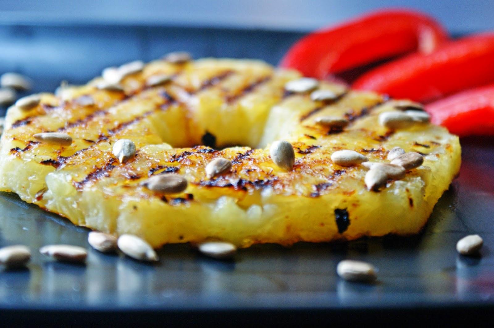 Grillowany ananas z chilli, czyli lekko deserowo