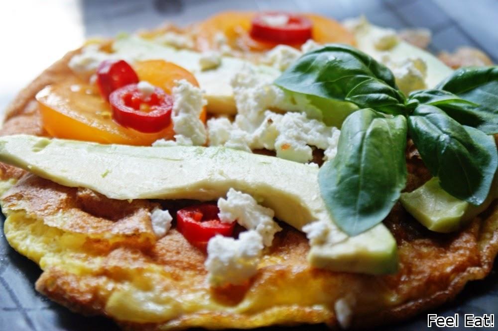Omlet z awokado i fetą