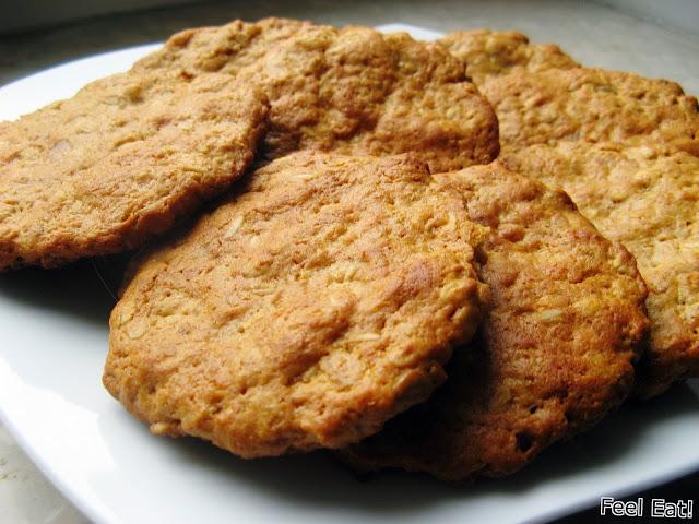 Pełnoziarniste ciastka z masła orzechowego