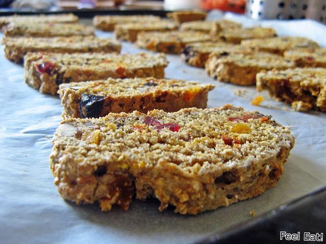 Pełnoziarniste biscotti (podwójnie pieczone)