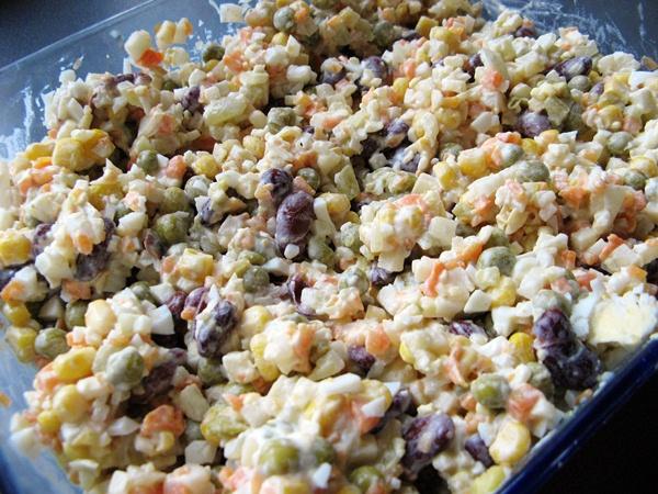 IMG 4412 - Sałatka jarzynowa na Wielkanocne śniadanie i nie tylko