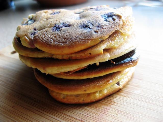 IMG 6622 - Proteinowe placki amarantusowe z borówkami bez cukru i mąki ;)