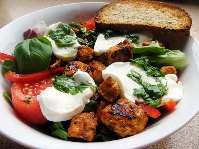 IMG 6851 - Sajgonki light z piekarnika z kurczakiem i warzywami