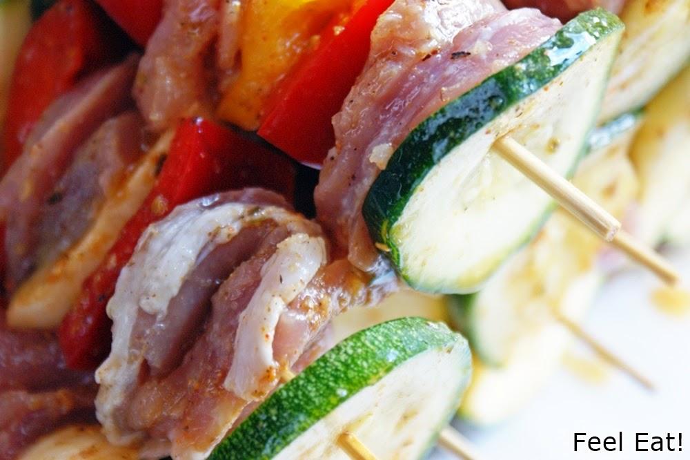 DSC06279 - Szaszłyki z polędwiczką wieprzową i warzywami