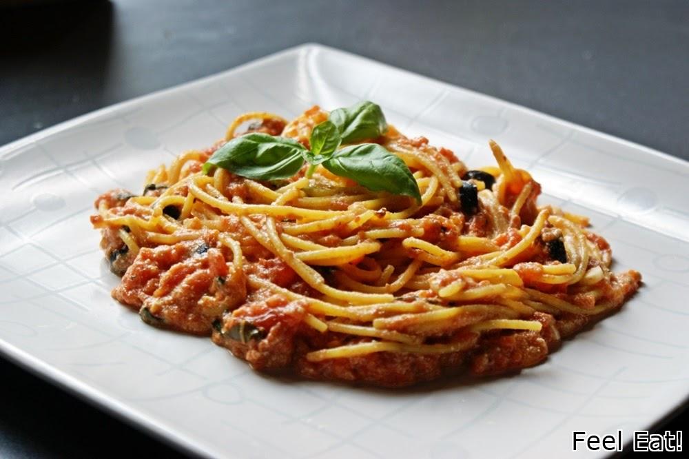 DSC06308 - Spaghetti z ricottą i pomidorami
