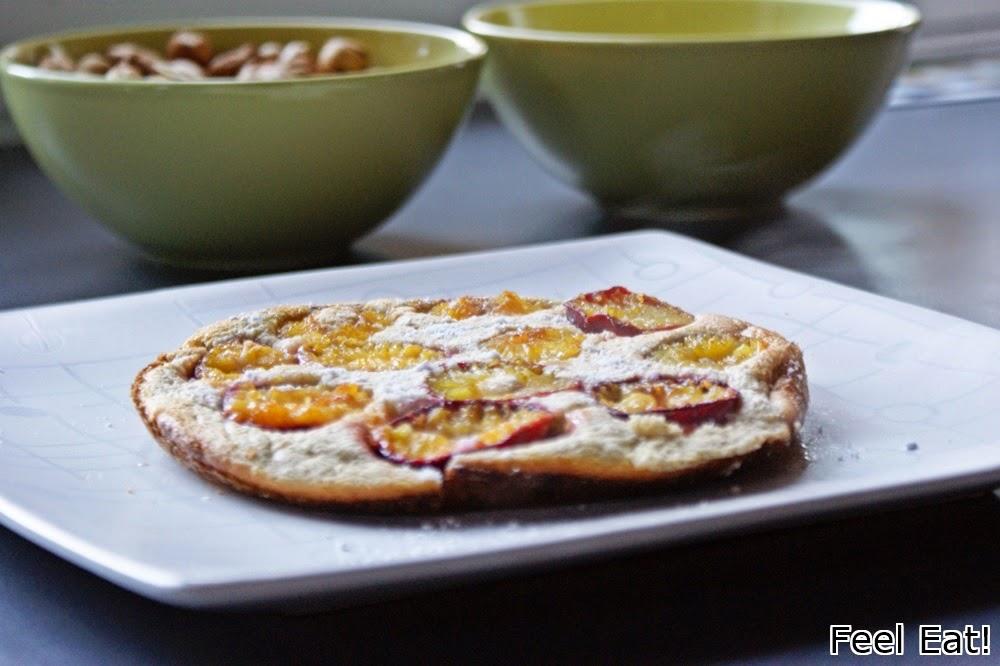 DSC06508 - Pełnoziarnisty omlet biszkoptowy ze śliwkami
