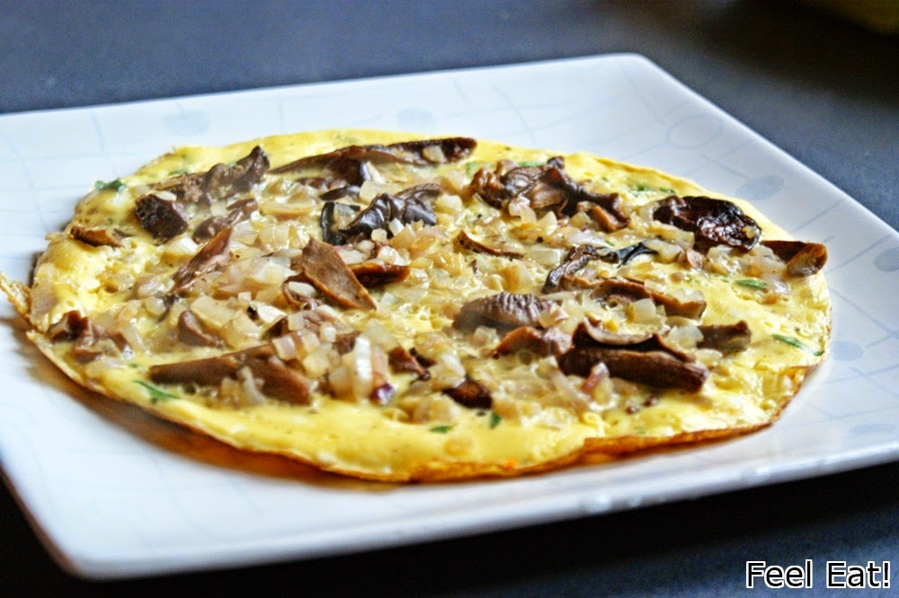 DSC06261 - Omlet z grzybami i cebulą
