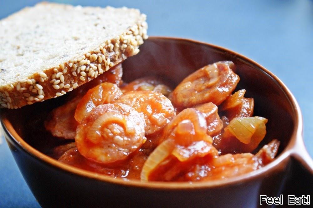 DSC06470 - Kiełbasa w sosie pomidorowym