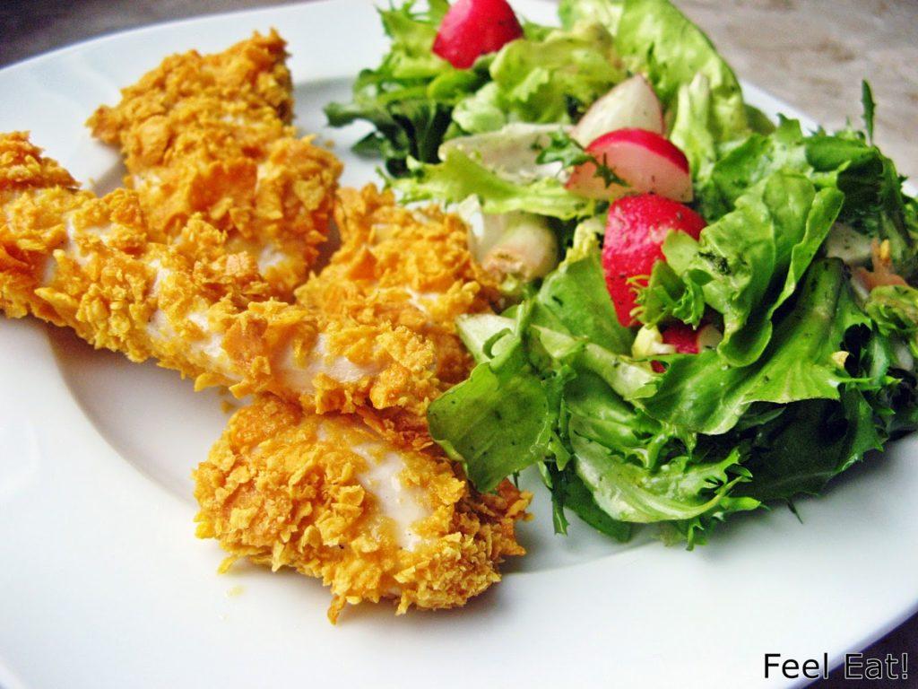 IMG 1740 1024x768 - Domowy fast food, czyli pieczone nuggetsy w pełnoziarnistej, chrupiącej ''panierce'' :)