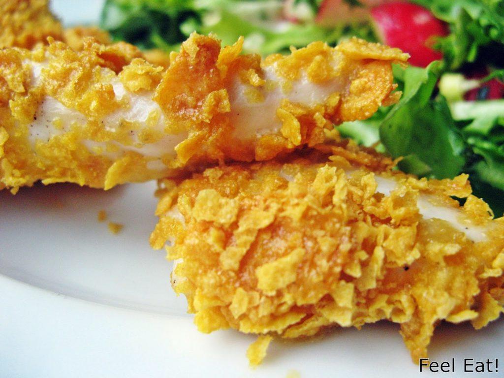 IMG 1750 1024x768 - Domowy fast food, czyli pieczone nuggetsy w pełnoziarnistej, chrupiącej ''panierce'' :)