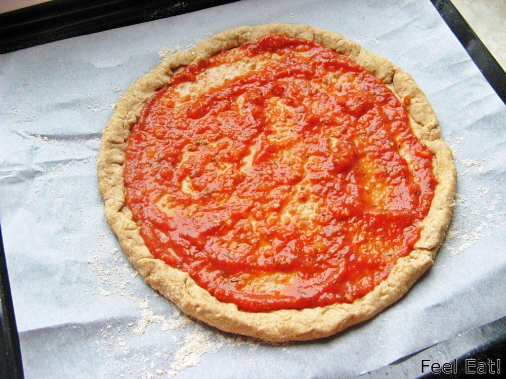 IMG 1786 1024x768 - Domowa pełnoziarnista pizza wiejska, pyszna!