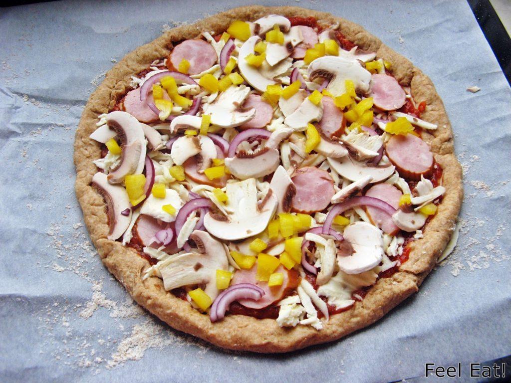 IMG 1788 1024x768 - Domowa pełnoziarnista pizza wiejska, pyszna!