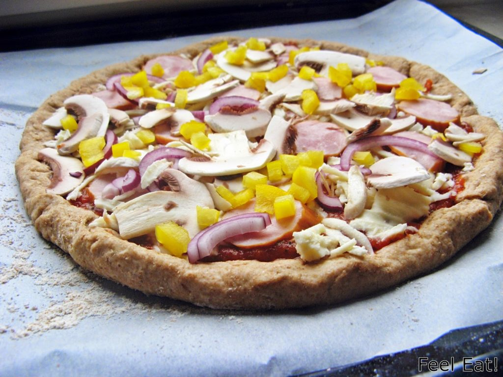 IMG 1790 1024x768 - Domowa pełnoziarnista pizza wiejska, pyszna!