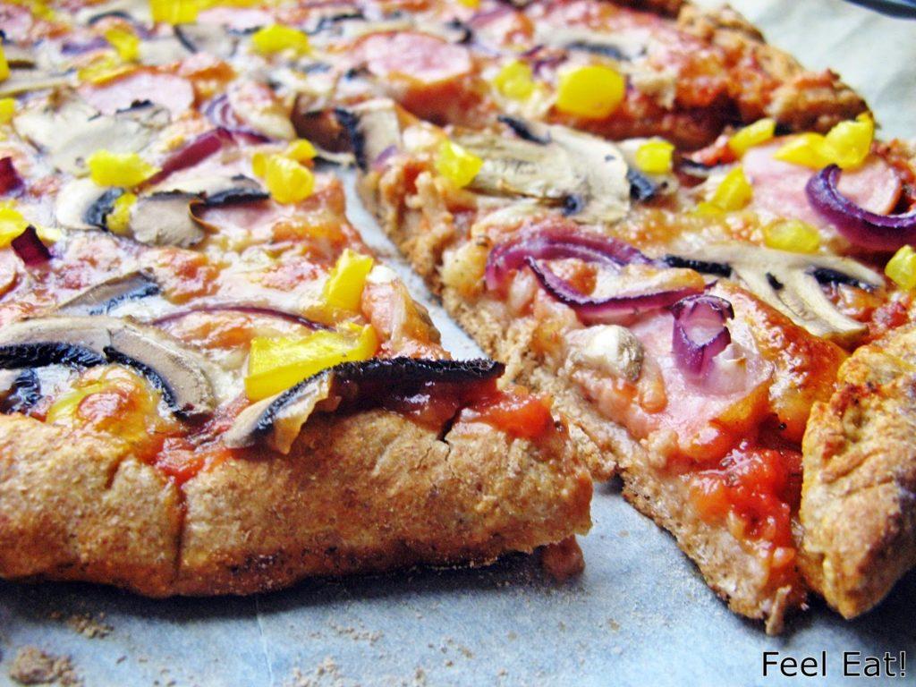 IMG 1821 1024x768 - Domowa pełnoziarnista pizza wiejska, pyszna!