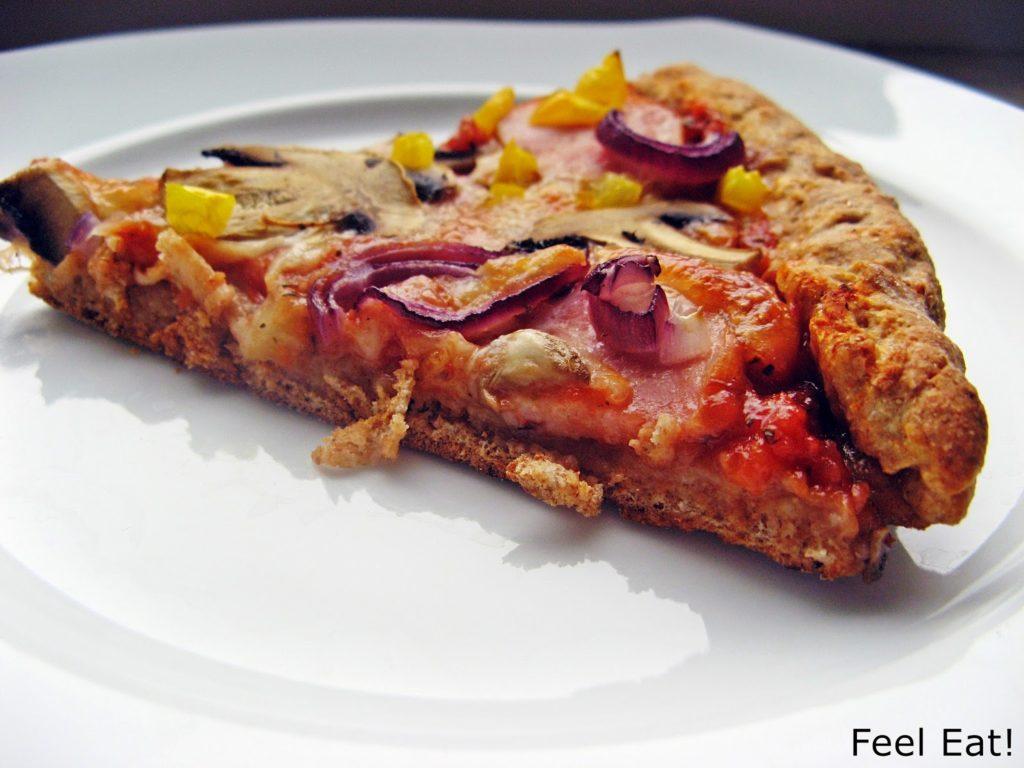 IMG 1823 1024x768 - Domowa pełnoziarnista pizza wiejska, pyszna!