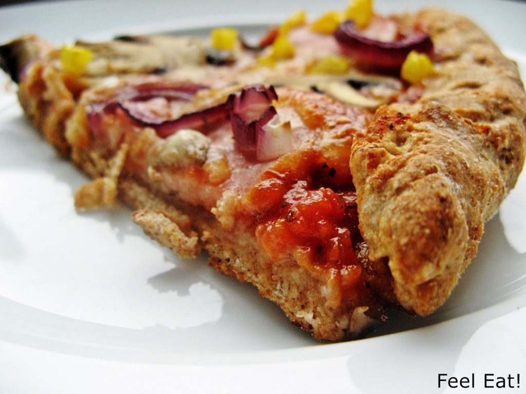 IMG 1824 1024x768 - Domowa pełnoziarnista pizza wiejska, pyszna!