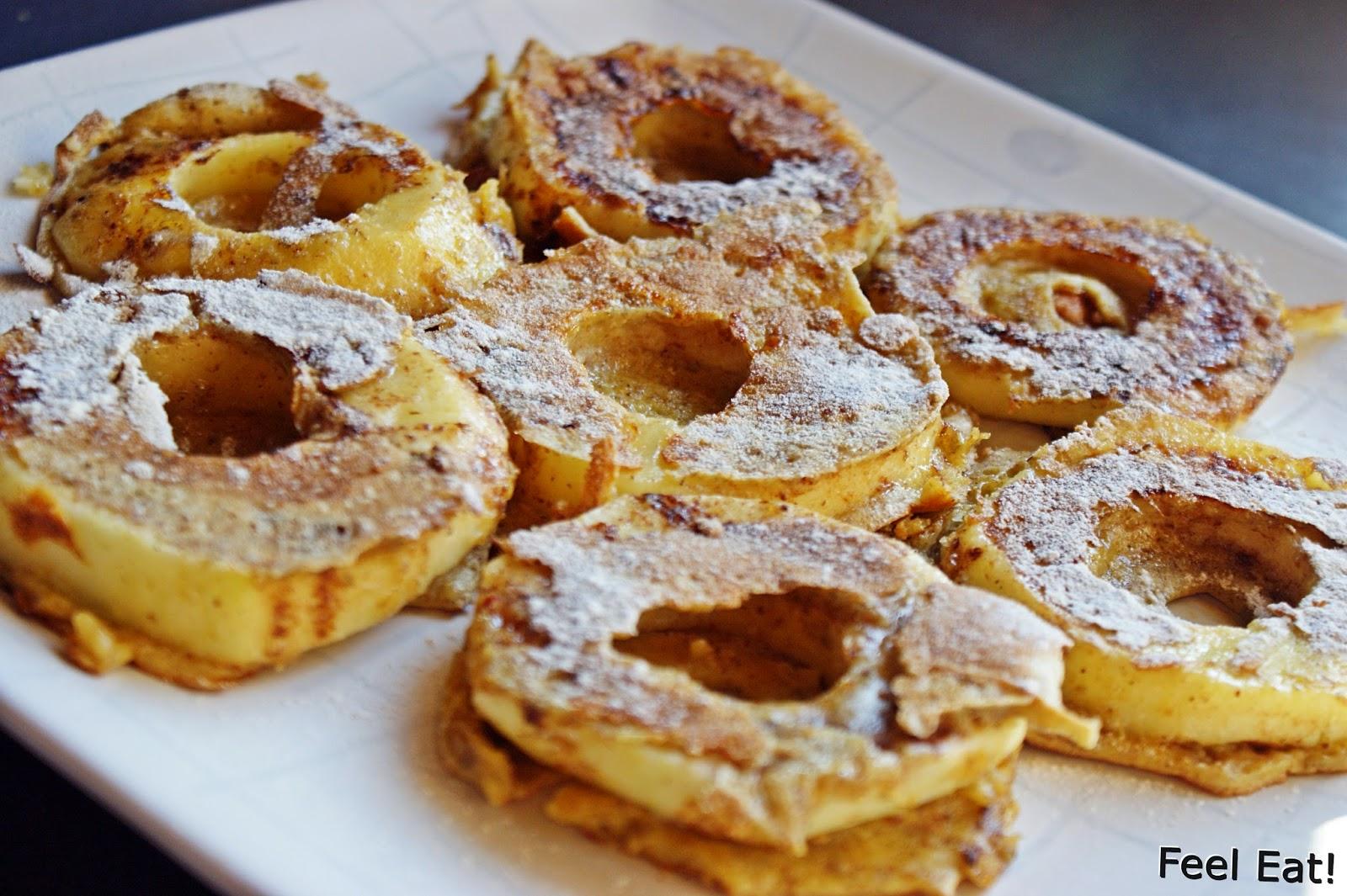 Dietetyczne śniadanie- jabłka w pełnoziarnistym cieście :)
