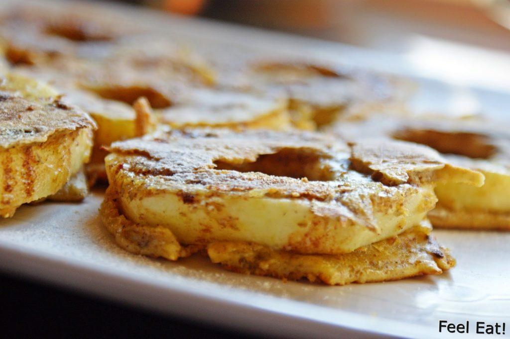 DSC07088 1024x682 - Dietetyczne śniadanie- jabłka w pełnoziarnistym cieście :)