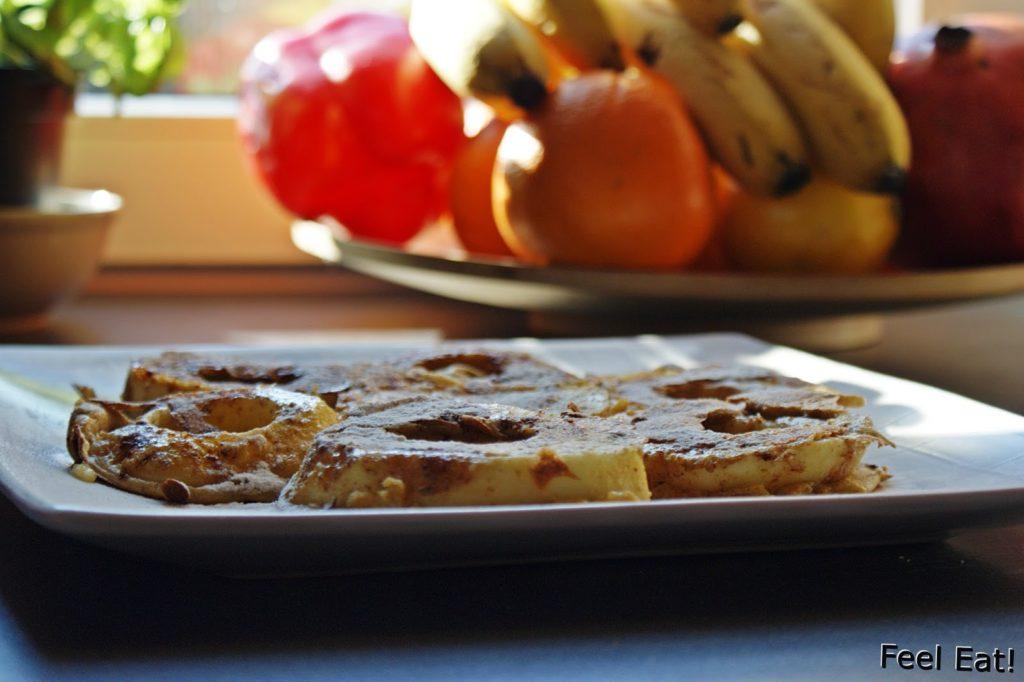 DSC07090 1024x682 - Dietetyczne śniadanie- jabłka w pełnoziarnistym cieście :)