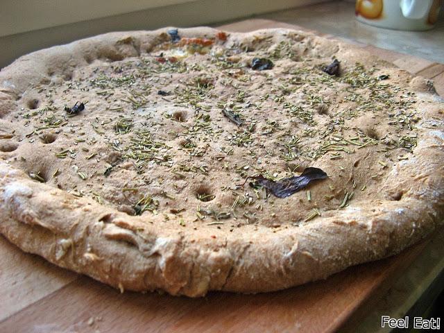IMG 2119 - Pełnoziarnista orkiszowa focaccia z serem