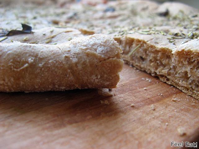IMG 2125 - Pełnoziarnista orkiszowa focaccia z serem