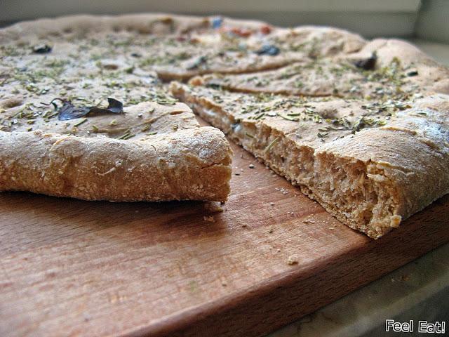 IMG 2126 - Pełnoziarnista orkiszowa focaccia z serem