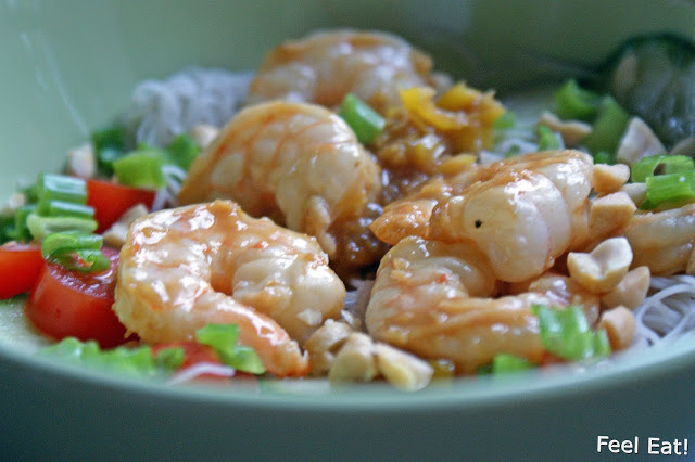 DSC06783 - Lekka i zdrowa tajska sałatka z krewetkami