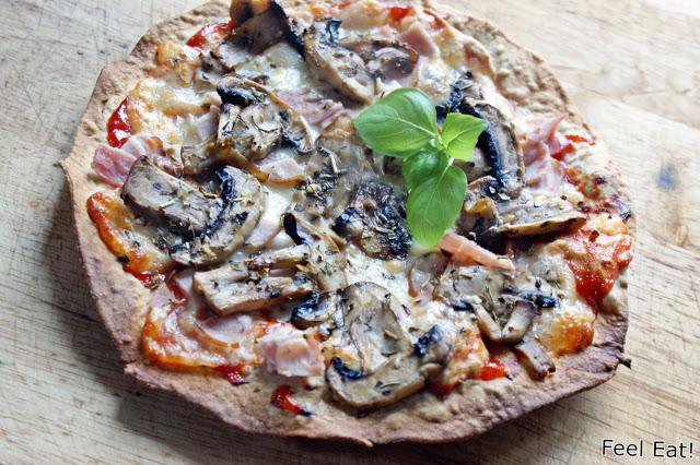 DSC08867 - Pizza na pełnoziarnistej domowej tortilli