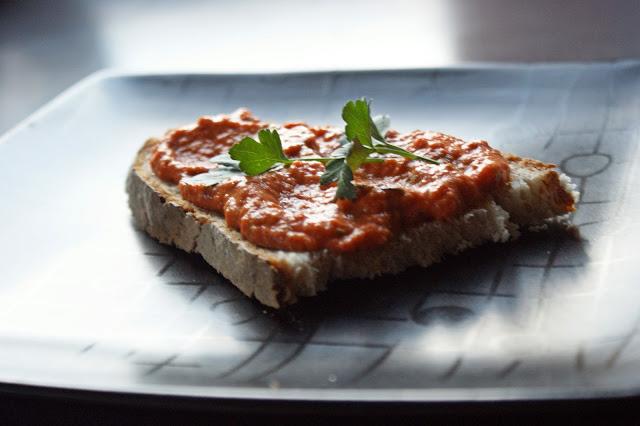 DSC09246 - Pasta z pieczonego bakłażana i papryk