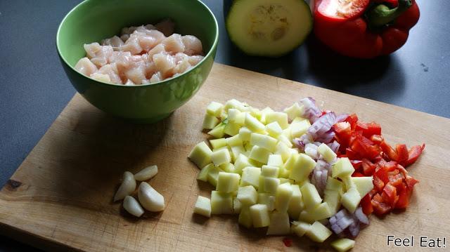DSC00049 - Zapiekane naleśniki z kurczakiem i warzywami