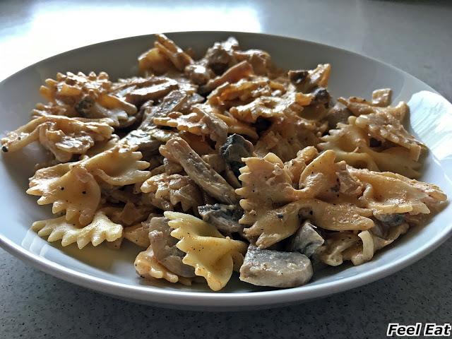 IMG 2961 1 - Szybki makaron z pieczarkami i serkiem mascarpone