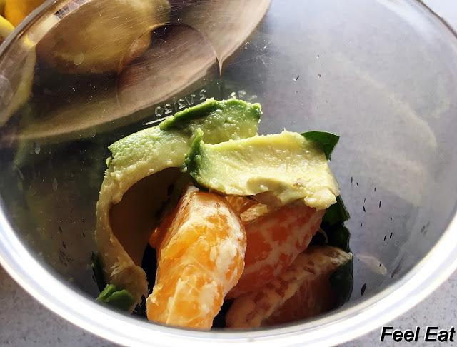 IMG 5970 - Smoothie z awokado, pomarańczą i szpinakiem